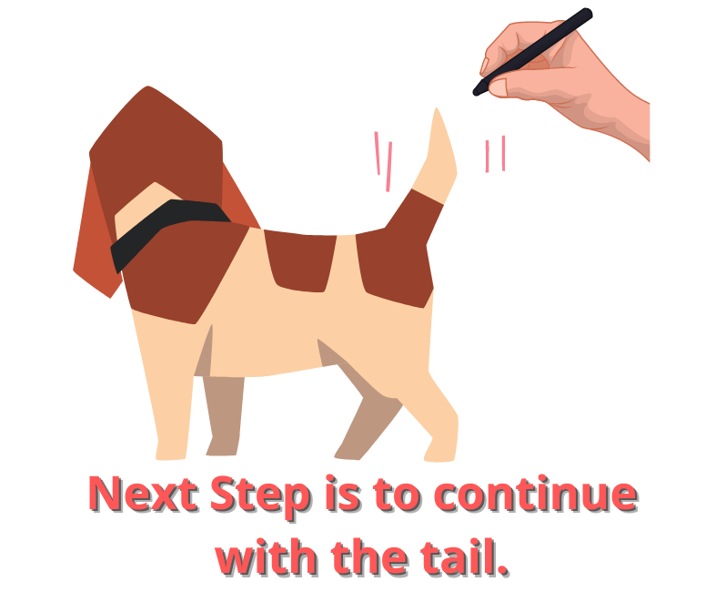 Next Step is to continue with the tail.